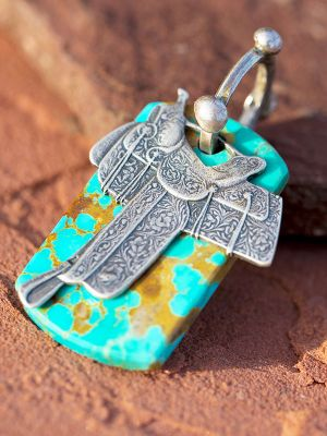 Dog Tag Saddle Charm