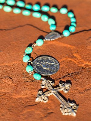 Love Tokens Turquoise Rosary