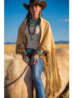 Smoke Deerskin Cape