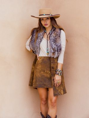 Crystal Fox Long Vest