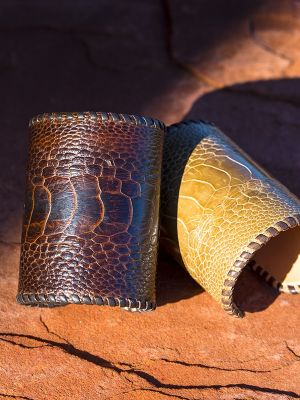 Ostrich & Stingray Cuffs